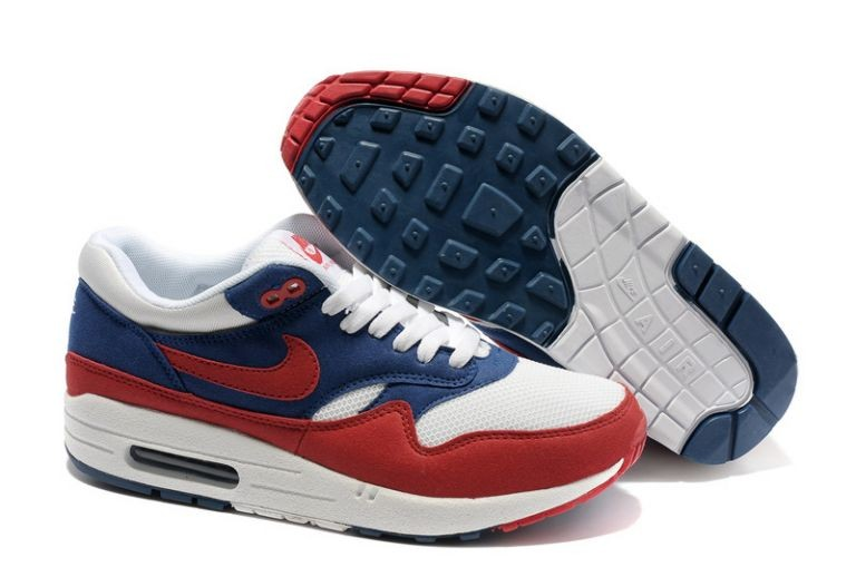 Nike Air Max 1 Mens Trainers Navy Red White